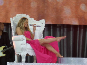"""Mariah Carey's legs are insured for $1 billion. Billion. Not Million. Billion, with a """"B."""" She did this after she became the face for Gillette's """"Legs of a Goddess"""" Campaign in 2006. That must have been some ad contract!"""