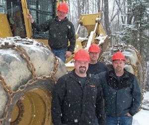 Above: Brad McGuire. Left to right: Nick, Jon and Doug McGuire.