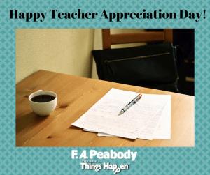 Happy Teacher Appreciation Day!